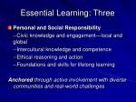 essential learning three