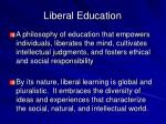liberal education