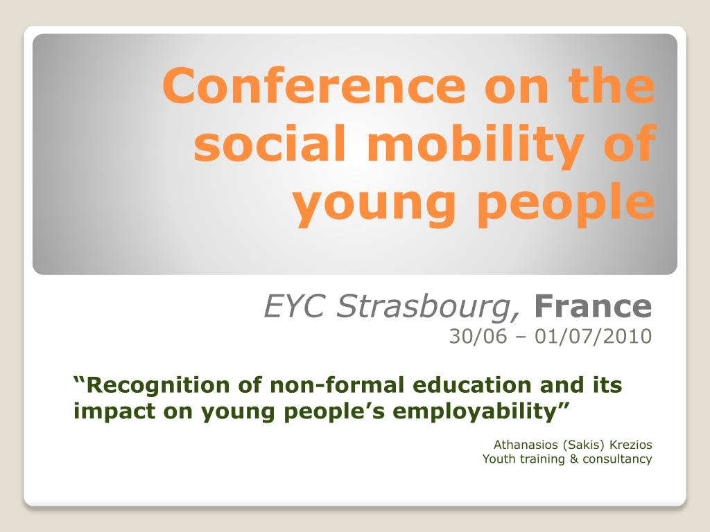 conference on the social mobility of young people l.