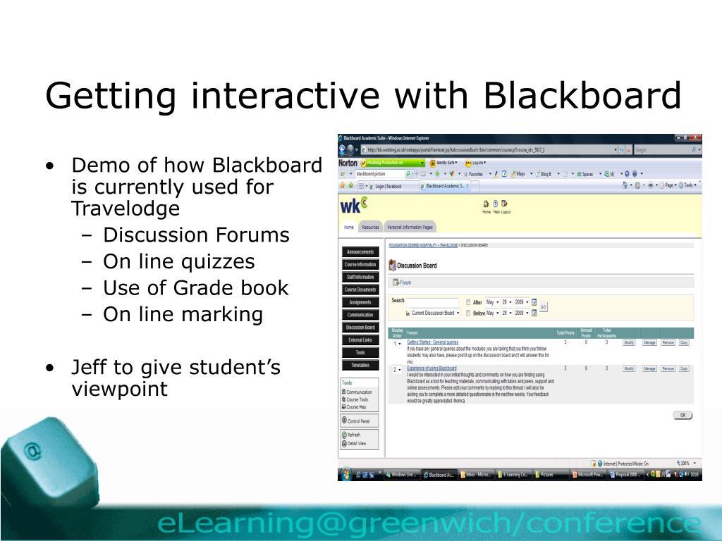 Getting interactive with Blackboard