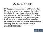 maths in fe he