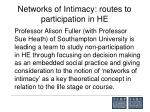 networks of intimacy routes to participation in he