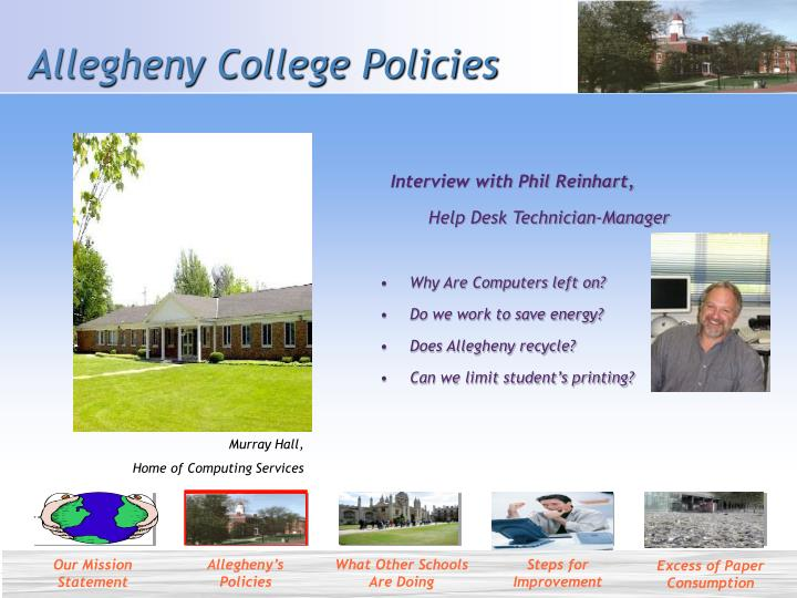 Allegheny college policies