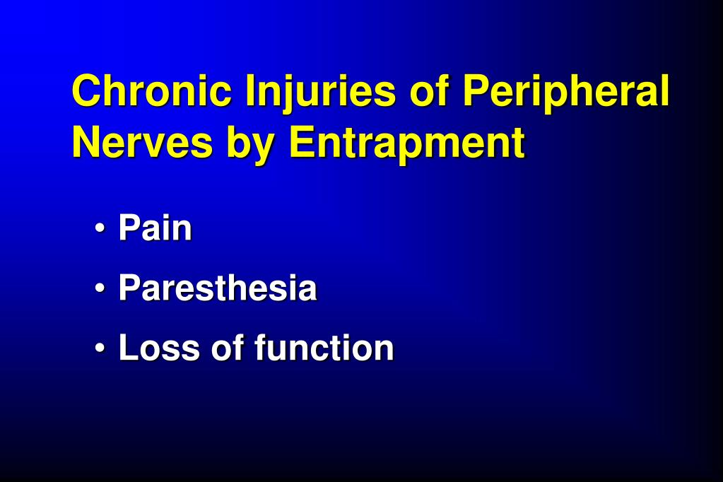 Chronic Injuries of Peripheral Nerves by Entrapment