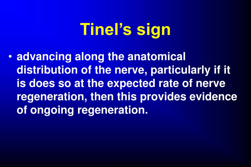 Tinel's sign