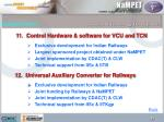 11 control hardware software for vcu and tcn