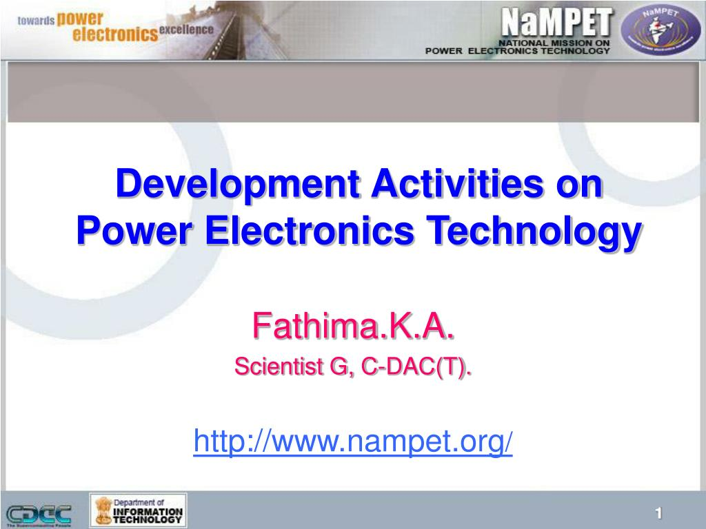 development activities on power electronics technology l.