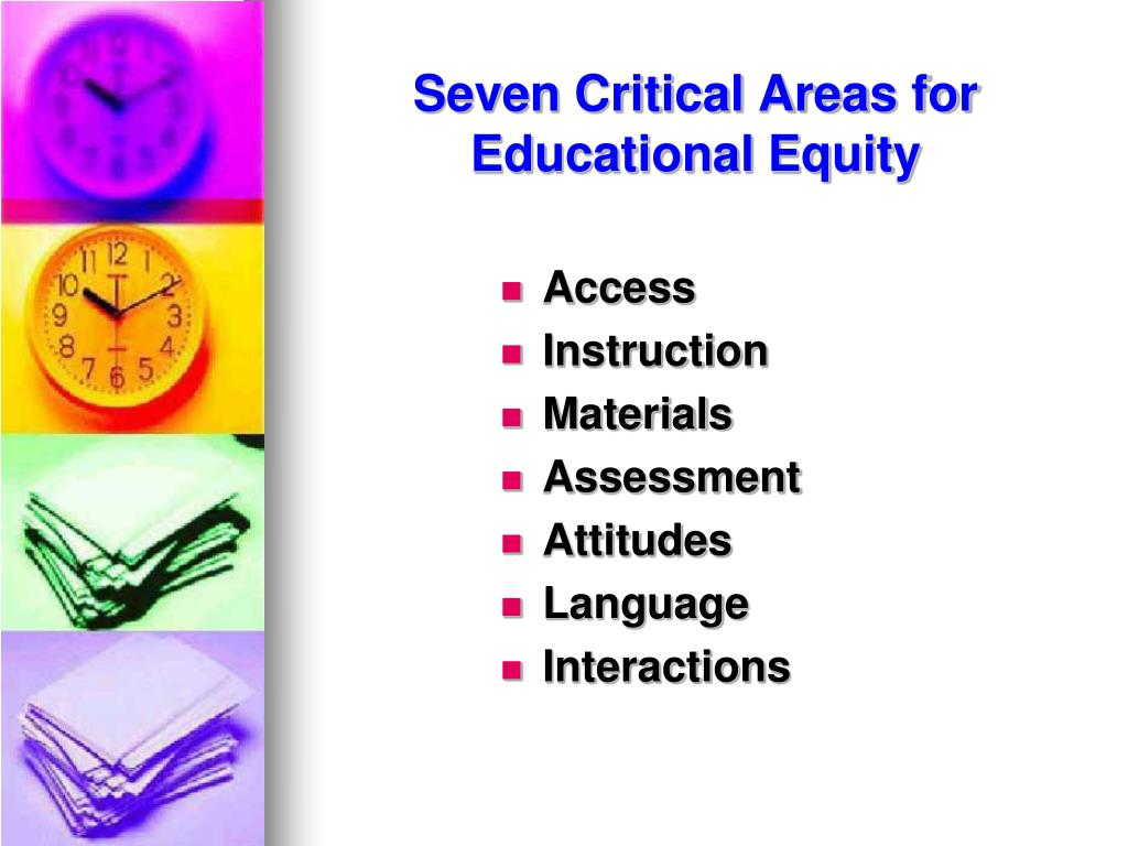 Seven Critical Areas for Educational Equity