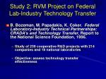 study 2 rvm project on federal lab industry technology transfer