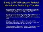 study 2 rvm project on federal lab industry technology transfer23