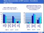 main characteristics of ht sectors growth in ht services