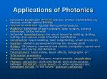 applications of photonics