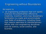 engineering without boundaries