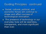 guiding principles continued