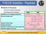 theos satellite payload