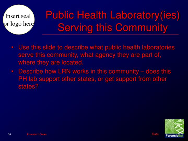 Public Health Laboratory(ies) Serving this Community