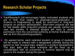research scholar projects