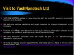 visit to yashnanotech ltd