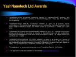 yashnanotech ltd awards