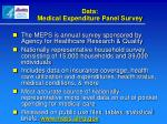 data medical expenditure panel survey