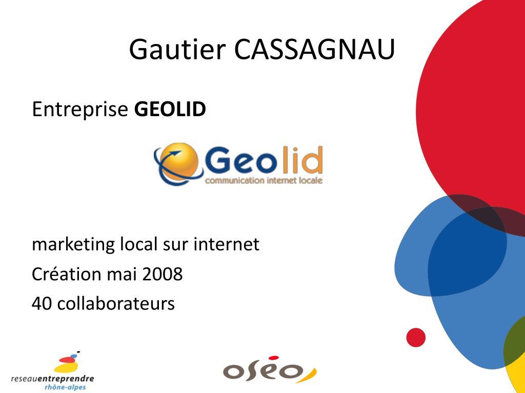 Gautier CASSAGNAU