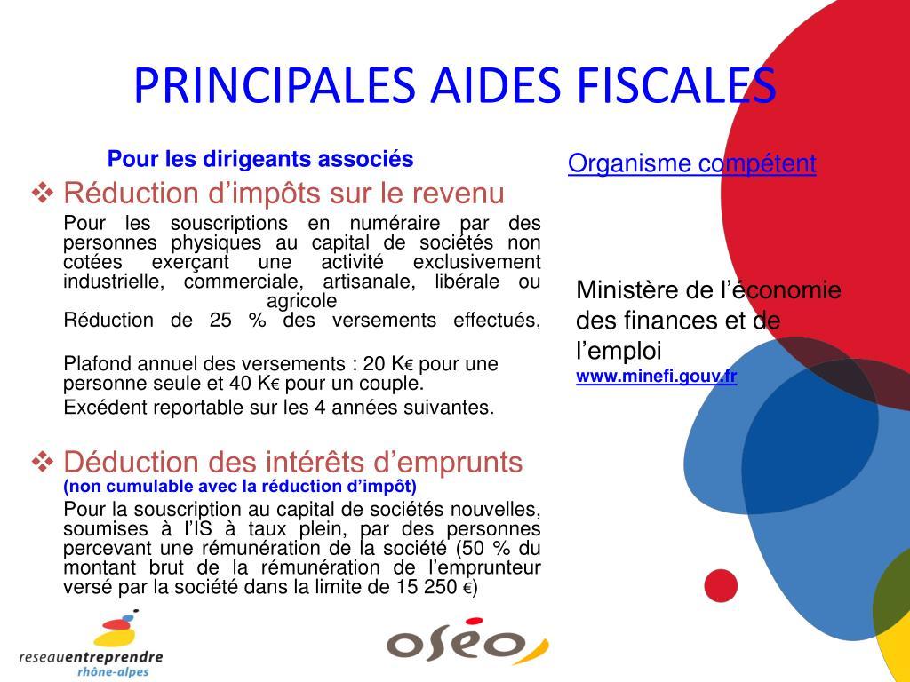 PRINCIPALES AIDES FISCALES