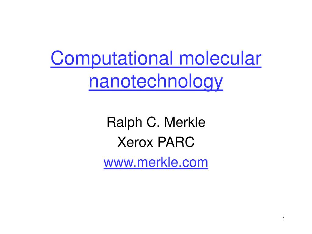 computational molecular nanotechnology l.