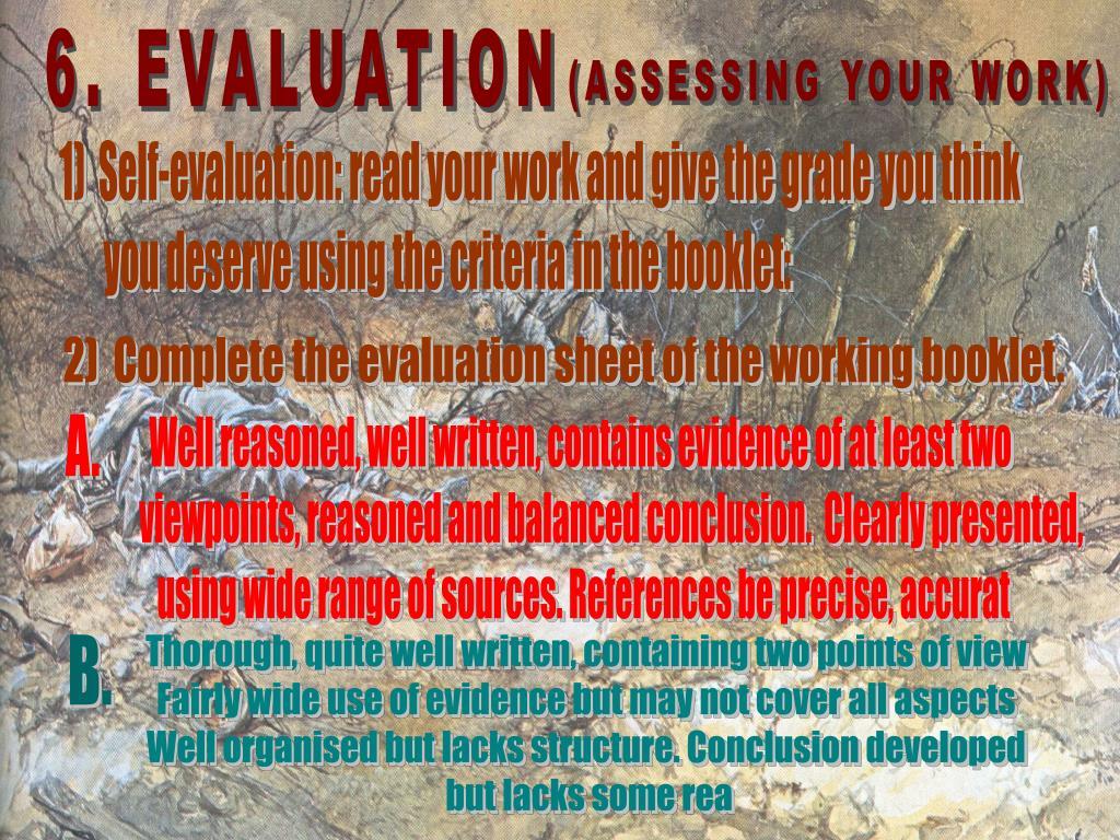 6. EVALUATION