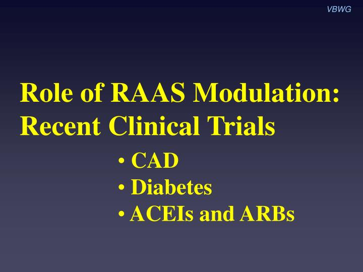 Role of raas modulation recent clinical trials