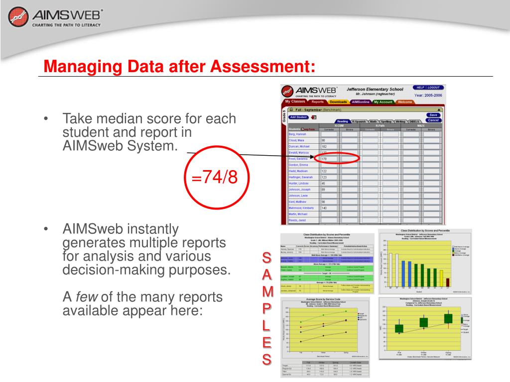 Managing Data after Assessment: