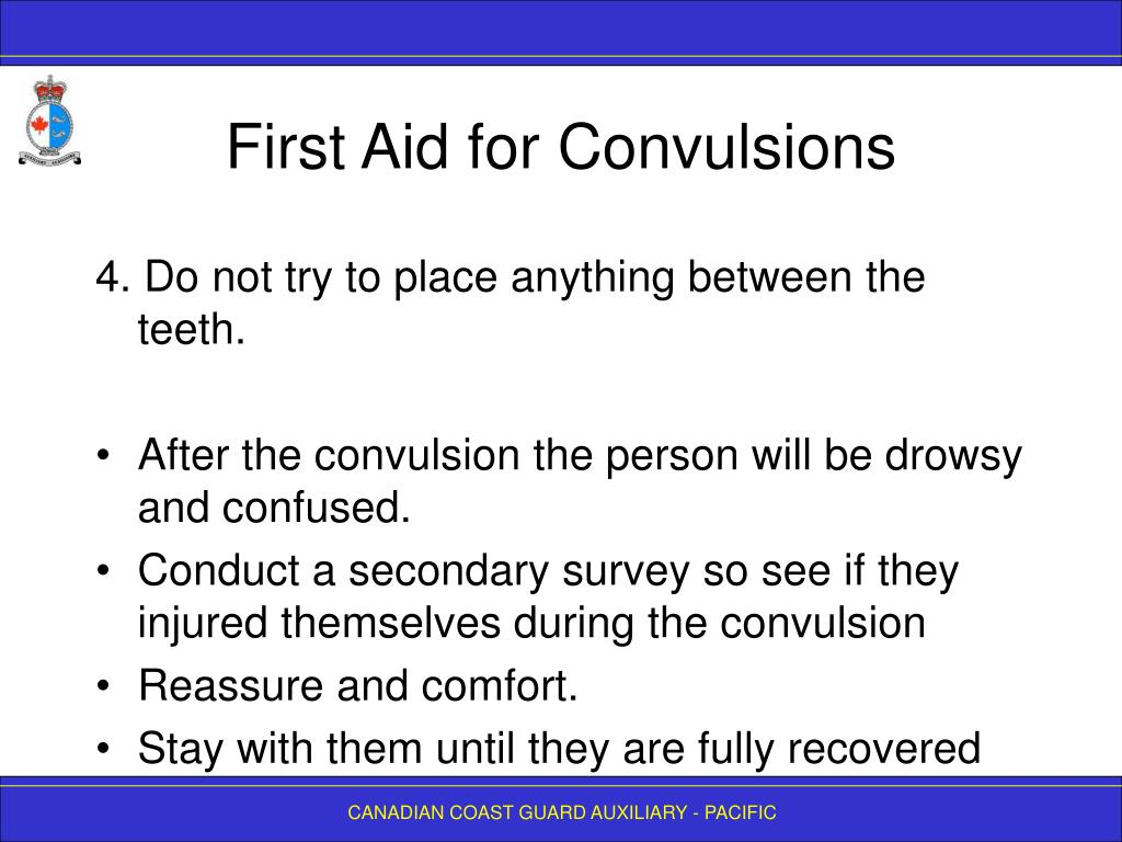 First Aid for Convulsions