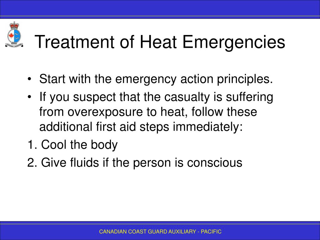 Treatment of Heat Emergencies