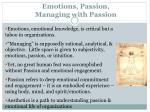 emotions passion managing with passion