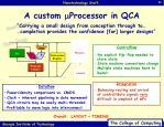 a custom m processor in qca