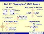 but 1 st conceptual qca basics
