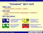 conceptual qca clock