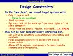 design constraints