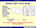 genomic qca circuit design