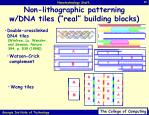 non lithographic patterning w dna tiles real building blocks