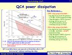 qca power dissipation