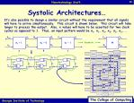 systolic architectures40