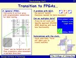 transition to fpgas