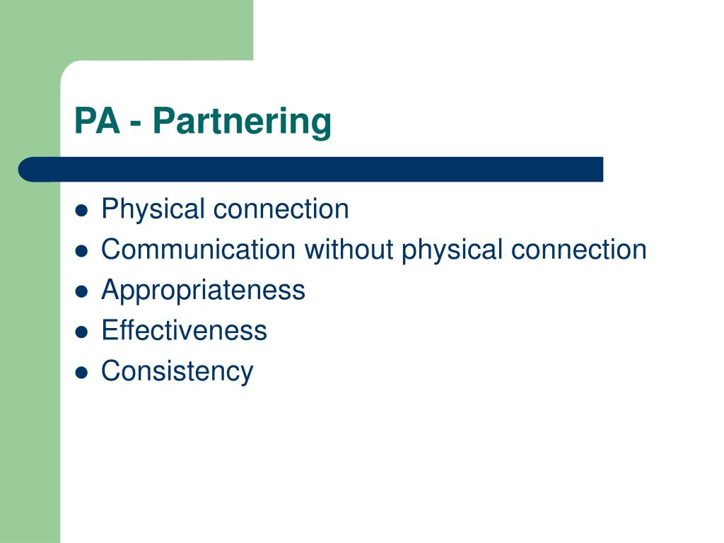 PA - Partnering