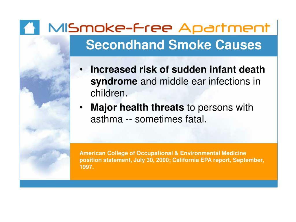 Secondhand Smoke Causes