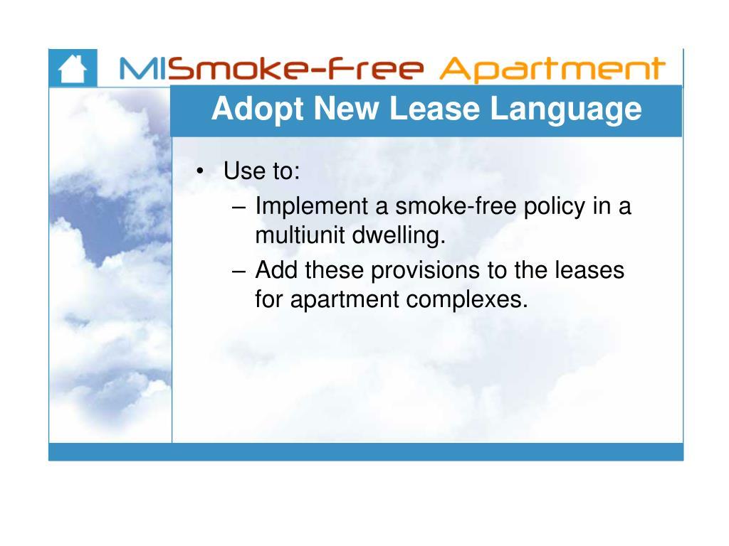 Adopt New Lease Language