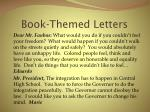 book themed letters