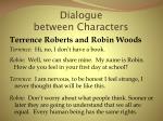 dialogue between characters