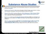 substance abuse studies