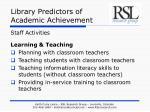 library predictors of academic achievement11