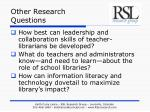 other research questions